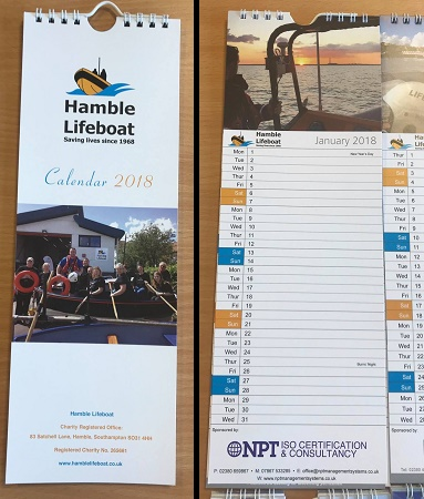 Hamble Lifeboat Calendar 2018